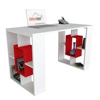 Dekorister Valancia Çalışma Masası Beyaz/Kırmızı