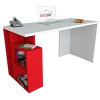 Dekorister Labran Çalışma Masası Beyaz/Kırmızı