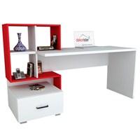 Dekorister Bloom Çalışma Masası Beyaz/Kırmızı