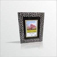 15x21 cm Siyah Puanlı Camlı Çerçeve