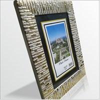 10x15 cm Altın Varak Desenli Camlı Çerçeve