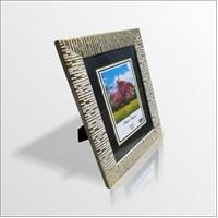 15x21 cm Altın Varak Desenli Camlı Çerçeve