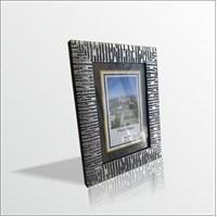 15x21 cm Gümüş Desenli Camlı Çerçeve