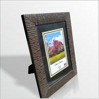 15x21 cm Kahverengi Cam Muhafazalı Çerçeve