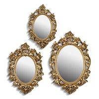 Noble Life Üçlü Barok Ayna - Altın