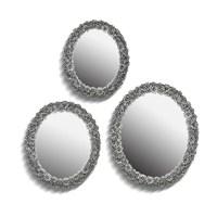 Noble Life Üçlü Daisy Ayna - Gümüş