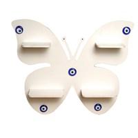 Dekoratif Kelebek Raf-Beyaz