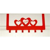 Amerikan Kapı Askısı Kalp Kırmızı
