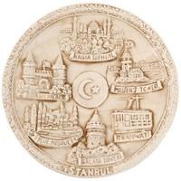 16Cm İstanbul Temalı Eskitme Tabak