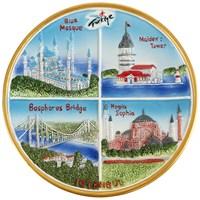 20Cm İstanbul Temalı Seramik Kabartma Tabak