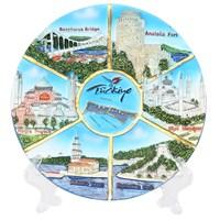 17Cm 7 Resimli İstanbul Temalı Kabartma Tabak