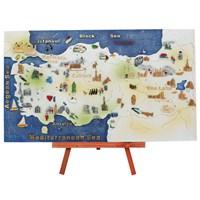 Ayaklı Türkiye Haritası Maketi (Büyük)