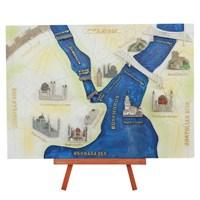 Ayaklı İstanbul Haritası Maketi (Büyük)