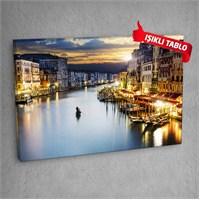 Venedik V1 Led Işıklı Kanvas Tablo 50X70 Cm