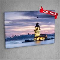 Kız Kulesi V1 Led Işıklı Kanvas Tablo 50X70 Cm