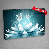 Lotus Flowers Led Işıklı Kanvas Tablo 50X70 Cm