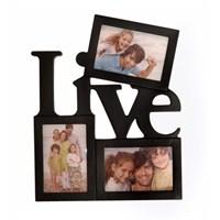 Live Dekoratif 3 lü Resim Çerçevesi-Siyah