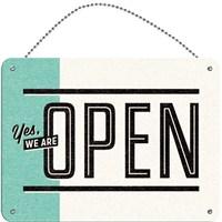 Open / Closed Çift Taraflı Kapı Yazısı (15 x 20 cm)