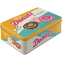 Donuts Yatay Teneke Saklama Kutusu