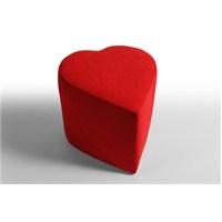 Kalp Puf Kırmızı