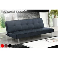 Eco Sofabed Kanape Siyah Deri