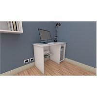 Bmd Mobilya Bilgisayar Masası (Dolaplı) Beyaz