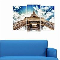 Dekoriza Paris Eyfel Kulesi 3 Parçalı Kanvas Tablo 80X50cm