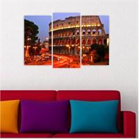 Dekoriza İtalya Roma Colosseum 3 Parçalı Kanvas Tablo 80X50cm