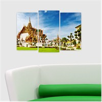 Dekoriza Tayland 3 Parçalı Kanvas Tablo 80X50cm