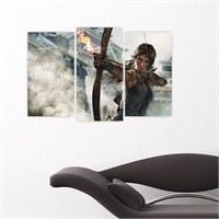 Dekoriza Tomb Raider 3 Parçalı Kanvas Tablo 80X50cm