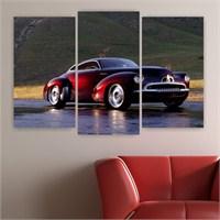 Dekoriza Klasik Holden Araba 3 Parçalı Kanvas Tablo 80X50cm