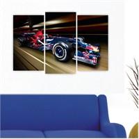 Dekoriza Formula 1 Araba 3 Parçalı Kanvas Tablo 80X50cm