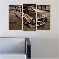 Dekoriza Klasik Bmw Araba 3 Parçalı Kanvas Tablo 80X50cm