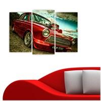 Dekoriza Cortina Klasik Araba 3 Parçalı Kanvas Tablo 80X50cm