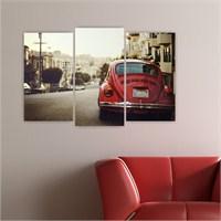 Dekoriza Wolksvagen Klasik Araba 3 Parçalı Kanvas Tablo 80X50cm