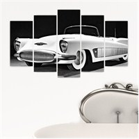 Dekoriza Buick Xp 300 1951 Klasik Araba 5 Parçalı Kanvas Tablo 110X60cm