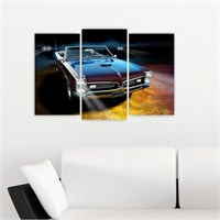 Dekoriza Pontiac Klasik Araba 3 Parçalı Kanvas Tablo 80X50cm