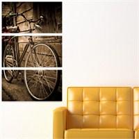 Dekoriza Klasik Bisiklet 3 Parçalı Kanvas Tablo 70X95cm