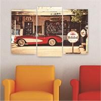 Dekoriza Nostalji 3 Parçalı Kanvas Tablo 80X50cm
