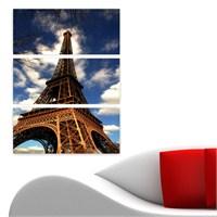 Dekoriza Paris Eyfel Kulesi 3 Parçalı Kanvas Tablo 70X95cm