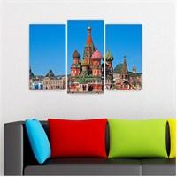 Dekoriza Rusya Moskova 3 Parçalı Kanvas Tablo 80X50cm