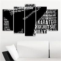 Dekoriza Dövüş Sanatları 5 Parçalı Kanvas Tablo 110X60cm