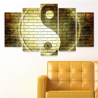 Dekoriza Yin Yang 5 Parçalı Kanvas Tablo 110X60cm