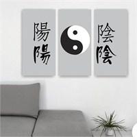 Dekoriza Yin Yang 3 Parçalı Kanvas Tablo 95X60cm