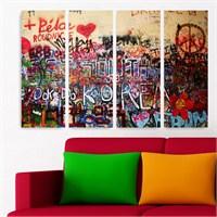 Dekoriza Soyut 4 Parçalı Kanvas Tablo 127X80cm