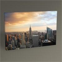 Tablo 360 New York City Manhattan Skyline At Sunset With Empire State Tablo