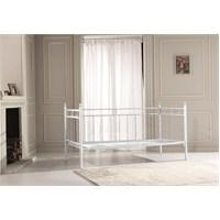 Unimet Alpas Metal Sofa 90 x 200 Beyaz Mindersiz