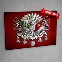 Osmanlı-Tuğra Led Işıklı Kanvas Tablo 50X70 Cm