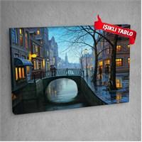 Sokak-Dm-709 Led Işıklı Kanvas Tablo 50X70 Cm