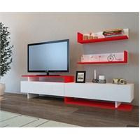 Ayaz Tv Ünitesi Kırmızı Beyaz